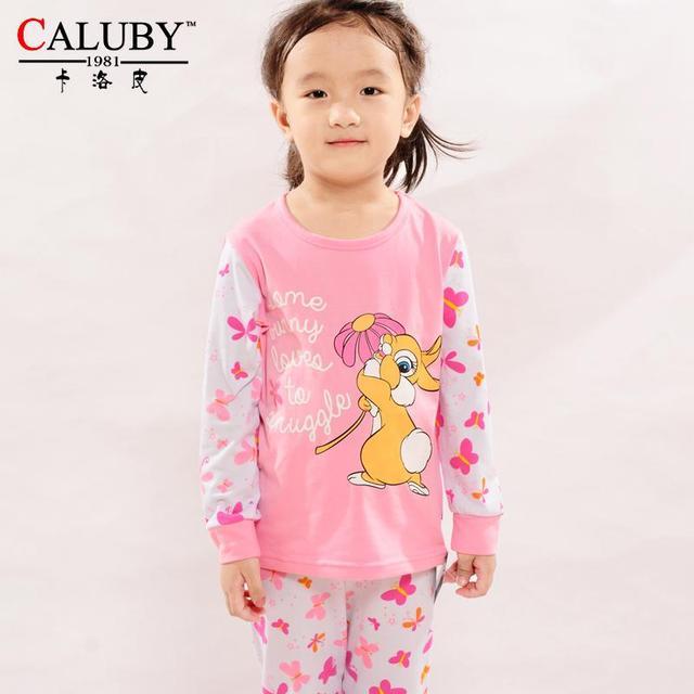 ebde1283e Squirrel Kids Pajamas Long Sleeve Floral Print Baby Girls Clothing Set Tops  Pants Cotton Children Pyjama Sleepwear Pijama Pjs