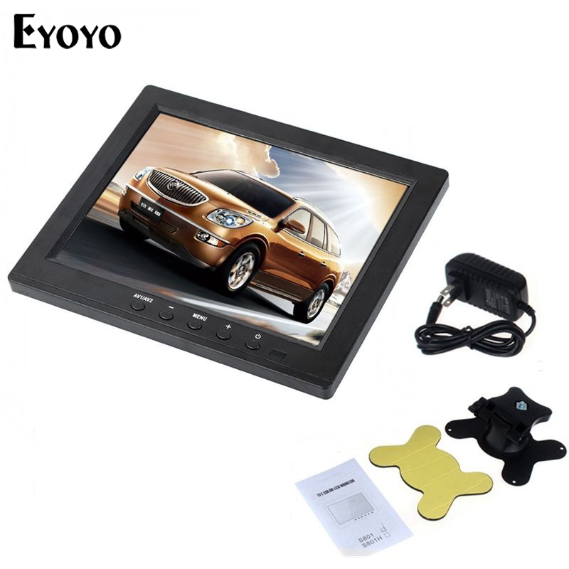 Eyoyo S801 Portable 8 inch TFT LCD Color HD Security Monitor Screen VGA BNC Vedio Input For PC CCTV DVD escam t10 10 inch tft lcd remote color video monitor screen with vga hdmi av bnc usb for pc cctv home security system camera