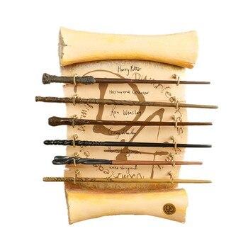 цена на Potter Magic Wand Hermione Magical Colsplay Metal Iron Core Olds Dumbledore Gifts Magic Adult Kid Toys