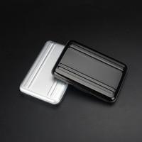 portable aluminum Portable Black Aluminum Memory Card Case 16 Slots (8+8) for Micro SD SD/ SDHC/ SDXC Card Storage Holder New Card Case (3)