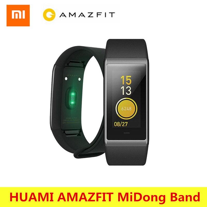 Original Xiaomi HUAMI AMAZFIT Midong Band Smartband Bracelet Bluetooth 4.1 Smart Wristband Waterproof GPS Heart Rate Monitor IPS huami amazfit heart rate smartband