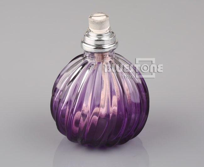 Фиолетовый Стеклянный Ароматический диффузор для эфирного масла, флакон для духов 100 мл