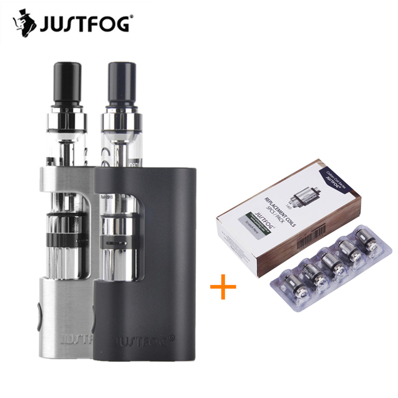 Original Justfog Q14 Compact Kit 900mah Battery Justfog Q14 Tank Anti-leakage Starshield System Clearomizer E Cigarette Vape Kit