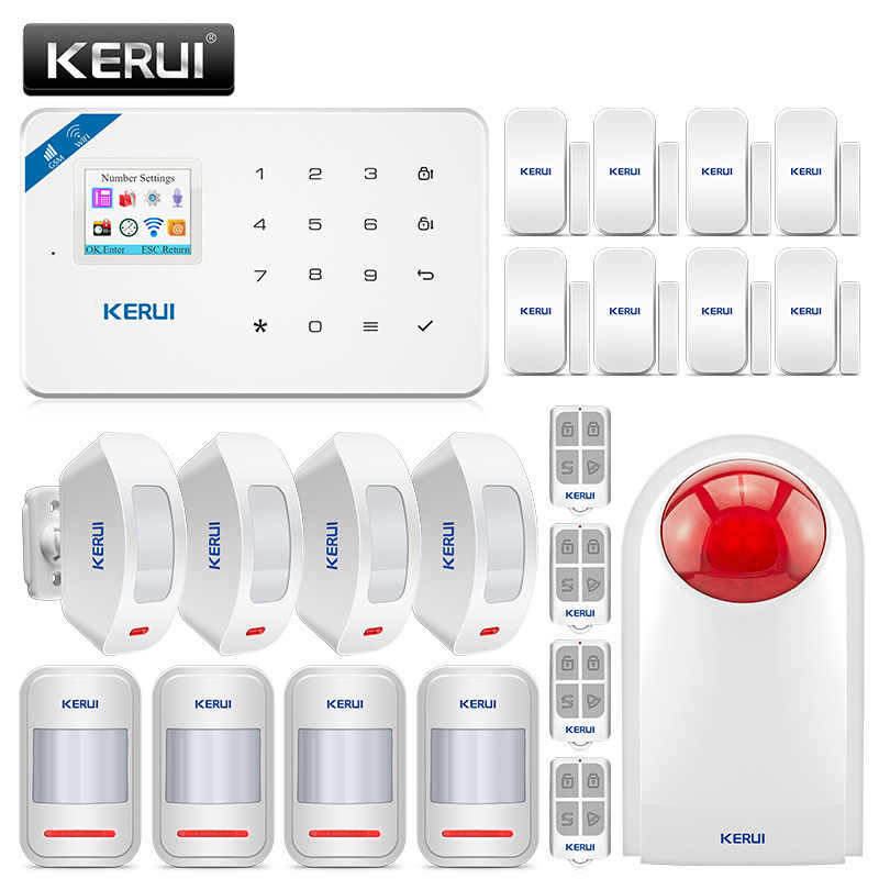 KERUI W18 Drahtlose GSM WIFI Alarm System Home Security Einbrecher Alarm Kit Aufladbare Zentrum Panel Android iPhone IOS APP Steuer