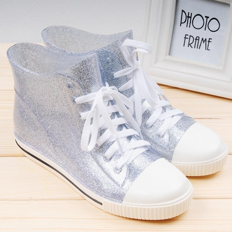 As Plata Mujer Tamaño Sólido De Moda La 40 Color Encaje Tobillo Para A Picture 35 Colores Botas 4 as Casual Zapatos Lluvia 2016 Picture qOwvRT8