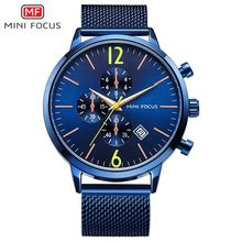 MINIFOCUS 2019 Sport Stainless Steel Military Watches Men Analog Date Waterproof Fashion Quartz Watch Clock Relogio Masculino все цены