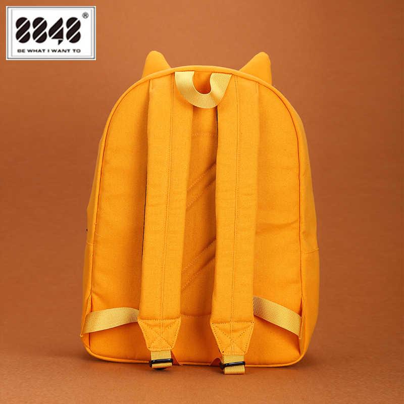 8848 милый 3D мультфильм медведь рюкзак женский парусиновый в форме животных школьные сумки для подростков девочек мальчиков забавные женские Mochila 201-061-001