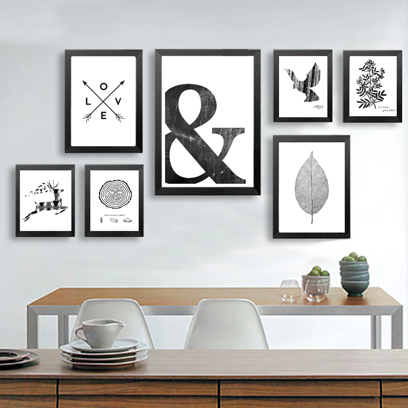 Canvas Painting Picture Poster-Print Symbol Wall-Art Abstract Living-Room Home-Decor