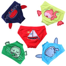 2018 New Fashion Cartoon Baby Boy/Girl Swimwear Cute Swim Briefs Boardshorts Summer Beach Shorts 5 style S-M-L(China)