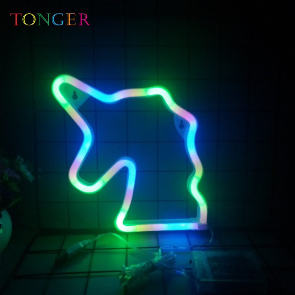 Neon Lamp Us 13 19 34 Off Tonger Unicorn Party Neon Lamp Led Neon Romantic Wedding Neon Sign Museum Party Decoration Home Light Colorful Unicorn Lamp In Neon