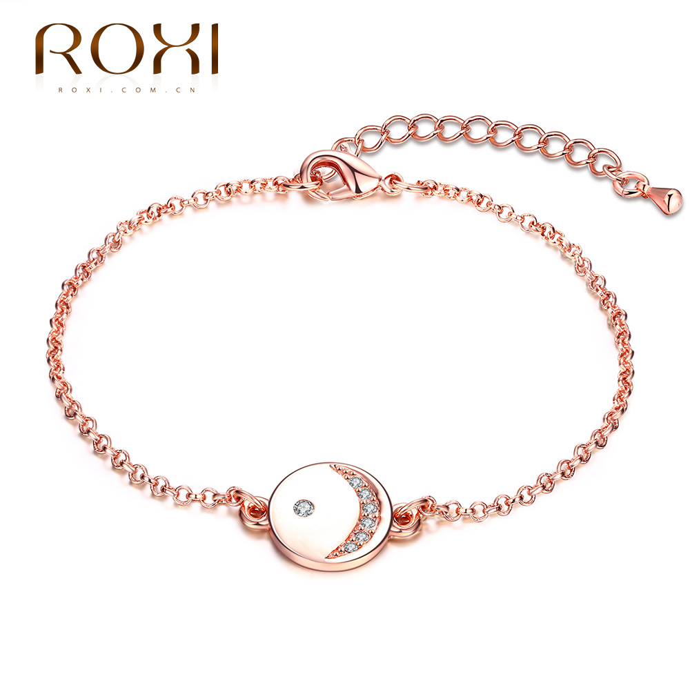 ROXI font b Bracelet b font Fashion Cute Girls font b Chain b font Rose Gold