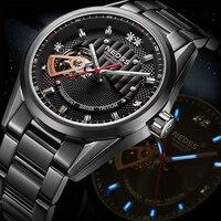 NEDSS Брендовые Часы Ограниченная серия seiko автоматические часы Swiss tritium скелетные часы сапфировое стекло военные 10bar водонепроницаемые