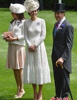 נשים חמות מכירת סתיו נסיכת קייט שמלות מקסי dress אופנה o-צוואר שרוול ארוך קפלים תחרה