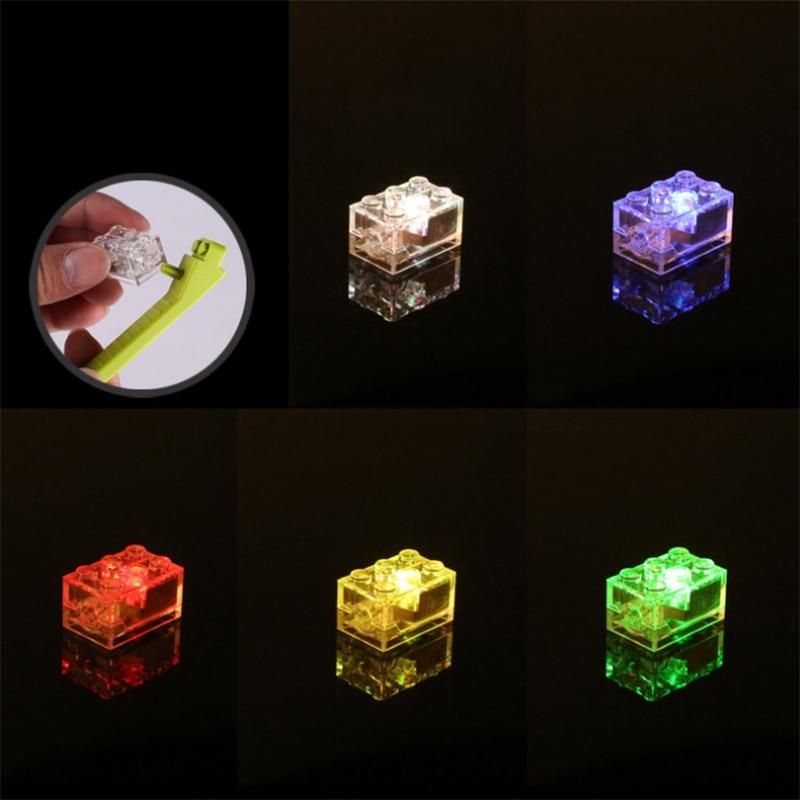 Светодиодный светильник строительные блоки кирпичи освещение Intellingence DIY детские игрушки - Цвет: colorful