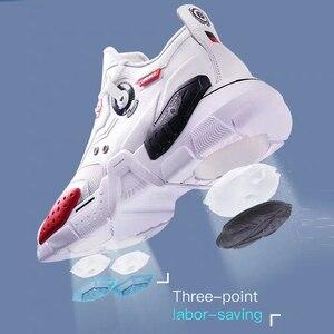 Image 5 - Onemixユニセックススニーカービッグサイズ2020新技術スタイル革減衰快適な男性のスポーツランニングシューズテニスお父さんの靴
