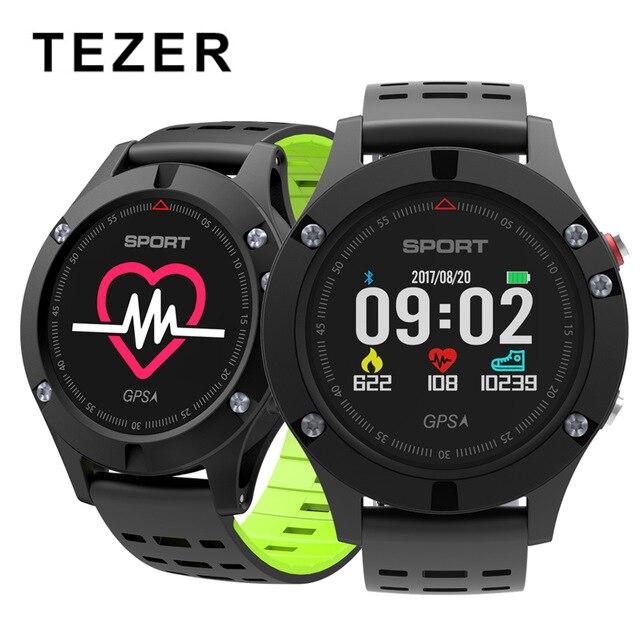 Original Tezer F5 GPS Smart bracelet Altimeter Barometer Thermometer Bluetooth 4 2 Smart wristband for iOS