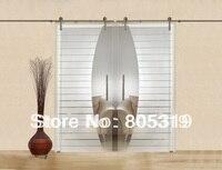 GSD02D Modern Interior Glass Sliding Door Barn Door Hardware Satin