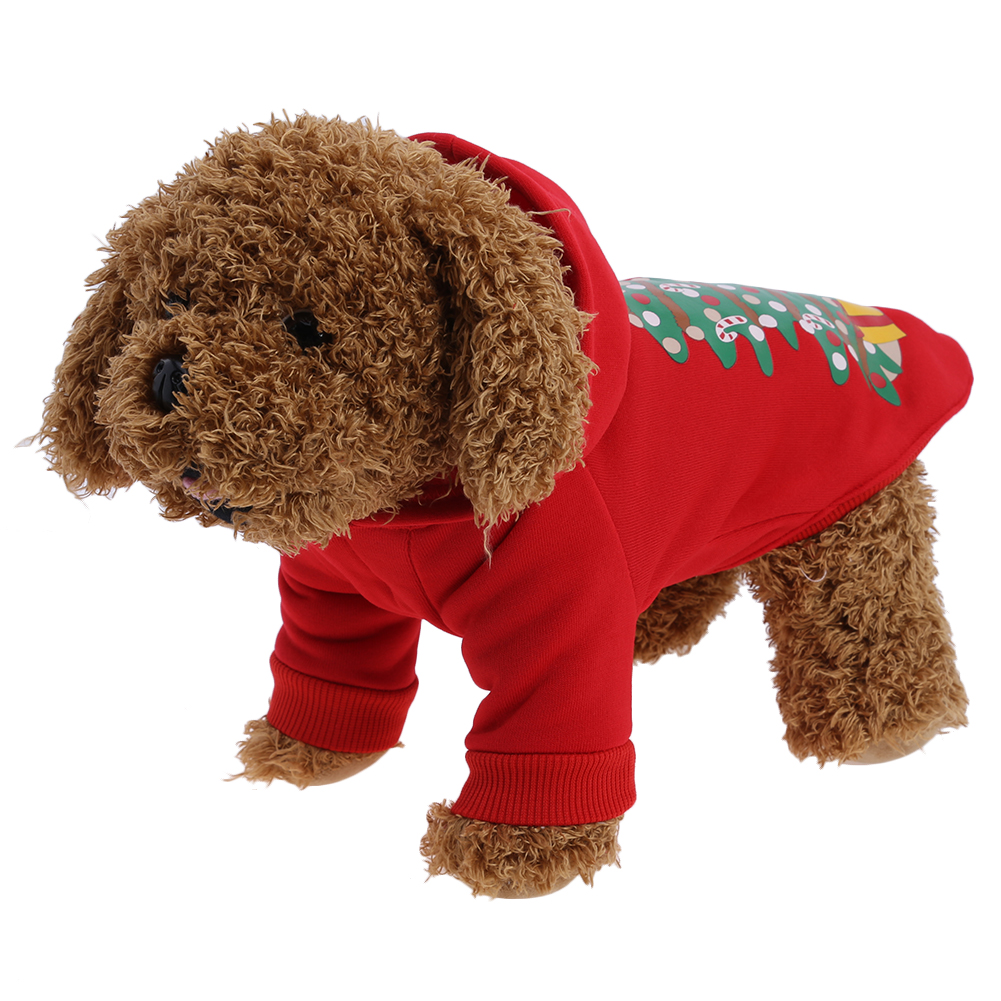 Hot Sale Pet Dog Christmas Hoodie Coat Fashion Autumn&Winter Small Dog Red Clothes New Year Jackets Outwear Pet Supplies