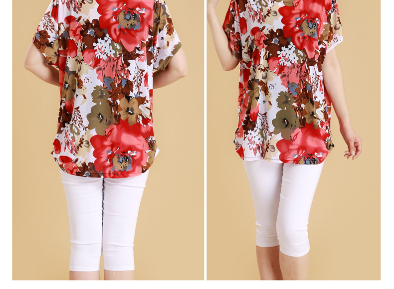 HTB1AlEwiyOYBuNjSsD4q6zSkFXab XL 5XL Women Summer Style Casual Blouses Flor Clothing Plus Size Short Sleeve Floral Blusas Shirt Women's Tops Russia 56