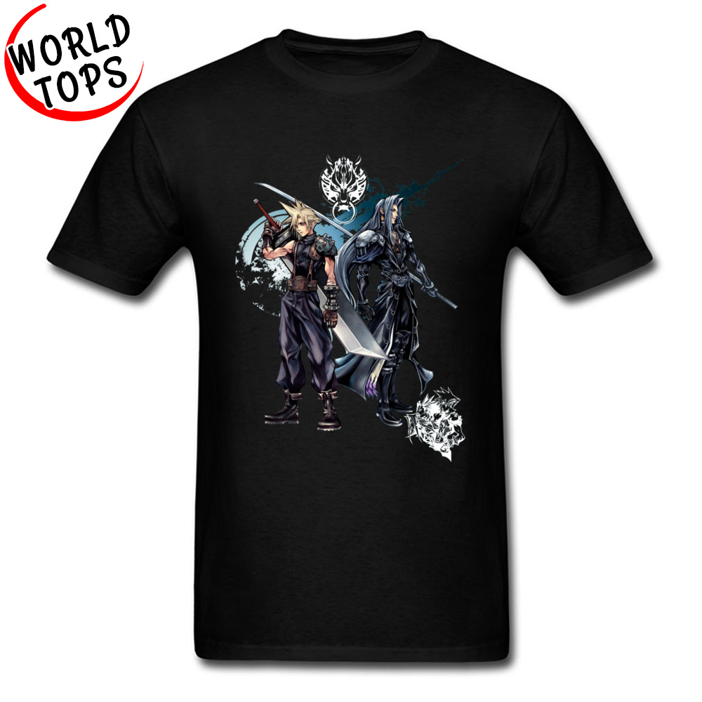 Top Quality Final Fantasy Game T Shirt FF RPG Gamer Funny Designs Fashion New Tshirts Mens Summer Clothing Fool's Day image