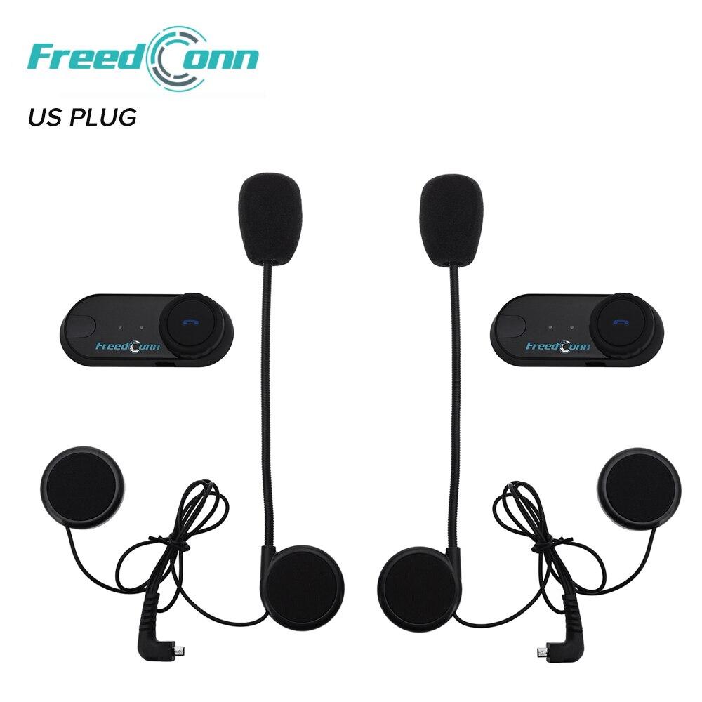 2 pièces affranchi 800 M Interphone casque Moto Interphone avec FM Bluetooth Intercomunicador Moto US Plug