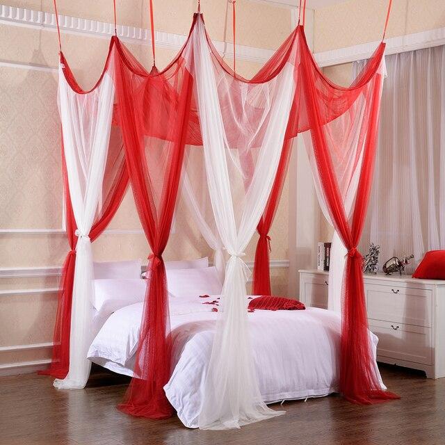 Luxus Im Europäischen Stil Moskitonetz Dreitürigen Bett Hochzeit Spitze Bett  Vorhang Baldachin Prinzessin Bett Vorhang Hot