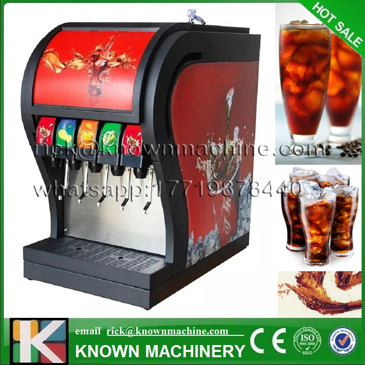 2017 hot sale 3,4,5 valves optional cola soda carbonated drinks making machine coke cola dispenser with CE certification coffee vending machine with 8 hot drinks