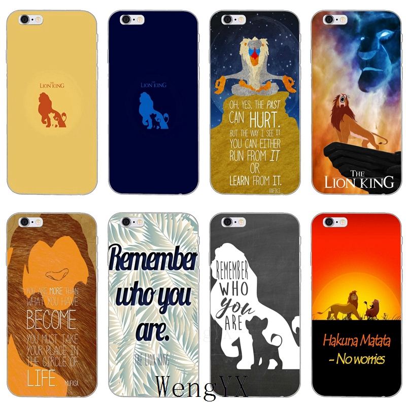 <font><b>Lion</b></font> <font><b>King</b></font> Simba Remember Who You Are Ultra Thin TPU Soft phone cover <font><b>case</b></font> For <font><b>iPhone</b></font> 4 4s 5 5s 5c SE <font><b>6</b></font> 6s 7 8 plus X XR XS Max image