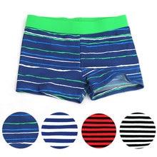 2016 New Summer Clothing font b Kids b font Boy Swim Cute Striped Trunks Children Swimming