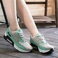 Новая Мода Сетки Женщина Повседневная Обувь Удобная Высота Увеличение Женская Обувь Корейски шнуровке Студенческие Повседневная Обувь ST362