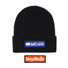 09382633ed0 2018 New Arrival Unisex Black Skullies Beanies Skiing Knitted Hats Casual  Gay Bear Hip-Hop Wool Caps 2 Replace Cloth Badge Patch