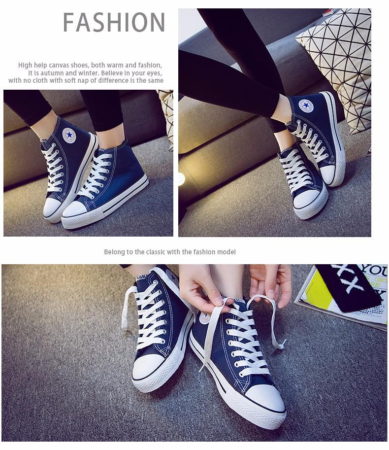 Plush Warm Women Canvas Shoes Winter Espadrilles 2017 Fashion Flat Heel High Top Women Casual Shoes Sapatilha Size 35-40 YD60 (19)
