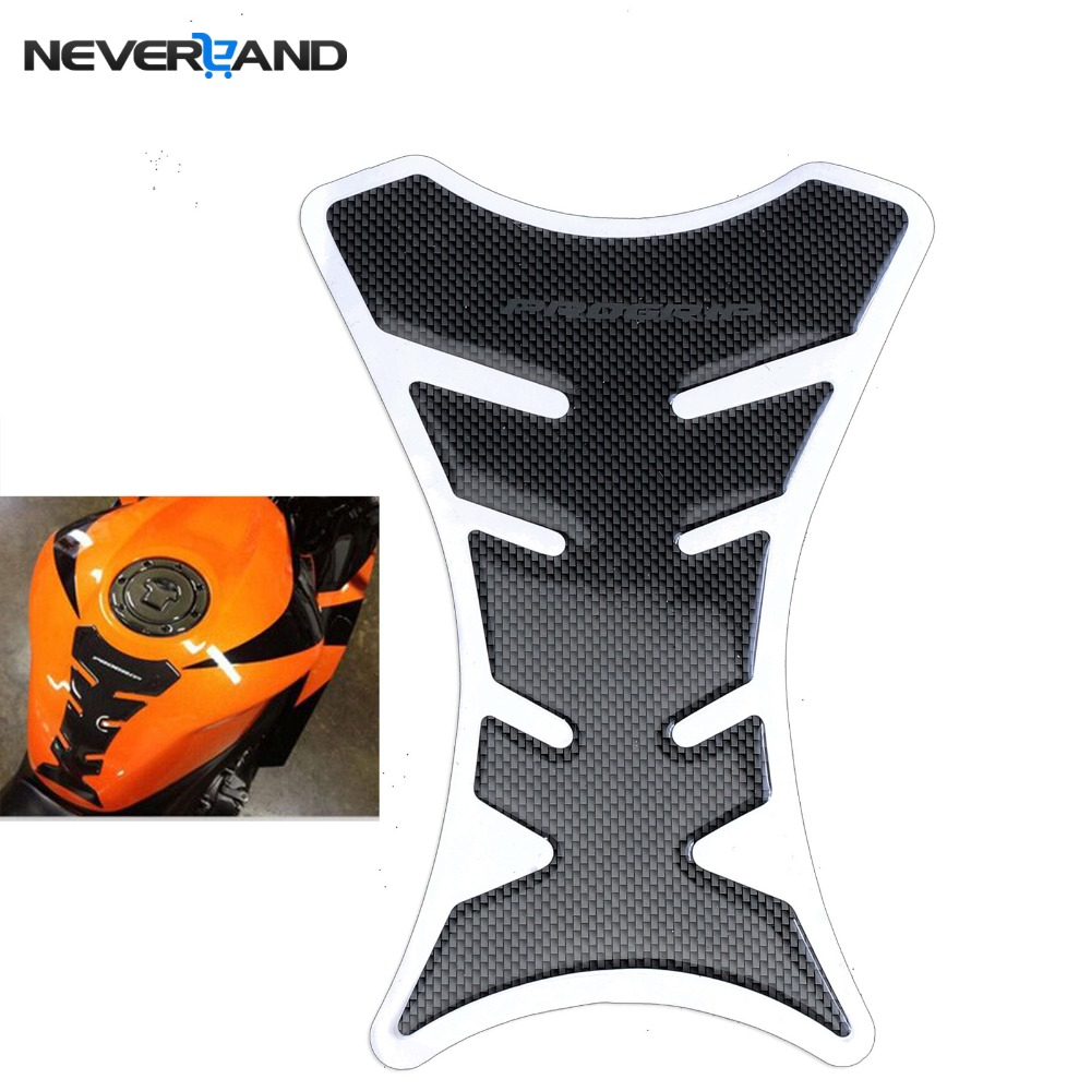1pcs Carbon Fiber Tank Pad Tankpad Protector Sticker For Motorcycle Universal Fishbone Freeshipping D05