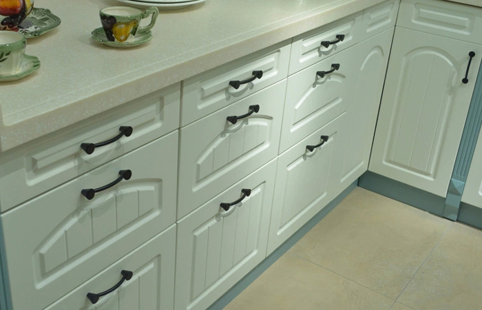 96mm Matte Black Kitchen Pulls Classical Thick Handles Drawer Knobs Aesthetics Cupboard Closet Wardrobe Door Knob Black