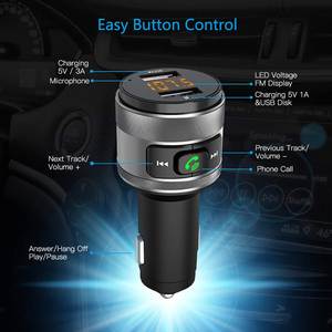 Image 1 - C57 Dual USB Ports Quick charge 3.0 Car Charger Bluetooth FM Transmitter Car Kit MP3 Music Player Wireless FM Radio Adapter