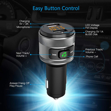 C57 כפולה USB יציאות טעינה מהירה 3.0 מטען לרכב Bluetooth משדר FM לרכב MP3 מוסיקה נגן אלחוטי FM רדיו מתאם