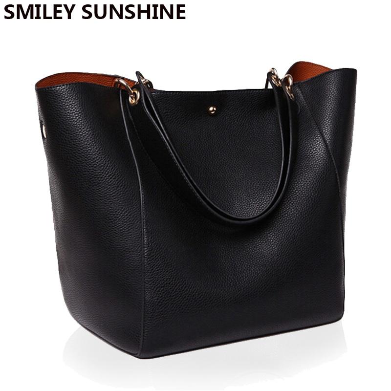 Žene Torbe na rame Velike PU kožne torbe Ženske Pravi crne torbice Lady Tote Crossbody torba torba glavna femme de marque  t