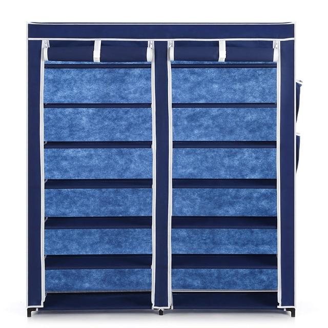 Ikayaa Us Uk Fr Stock 12 Grids Shoes Storage Organizer Fabric Rack Shoe Cabinet With