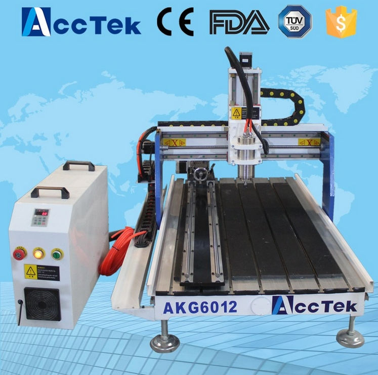 Jinan Acctek desktop cnc milling machine AKG6090/6012 for wood ,stone ,metal / small cnc milling machine price ce certificated jinan acctek cheap hot sale laser machine spare parts
