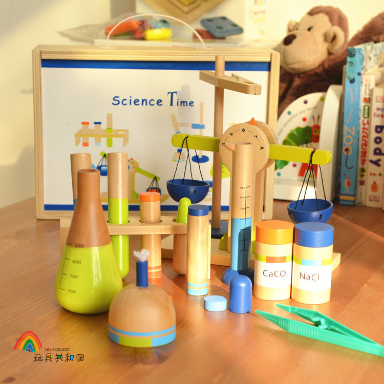 Multifunction Wooden educational toys clever little value three-in-one hands-on science experiments toy цена и фото
