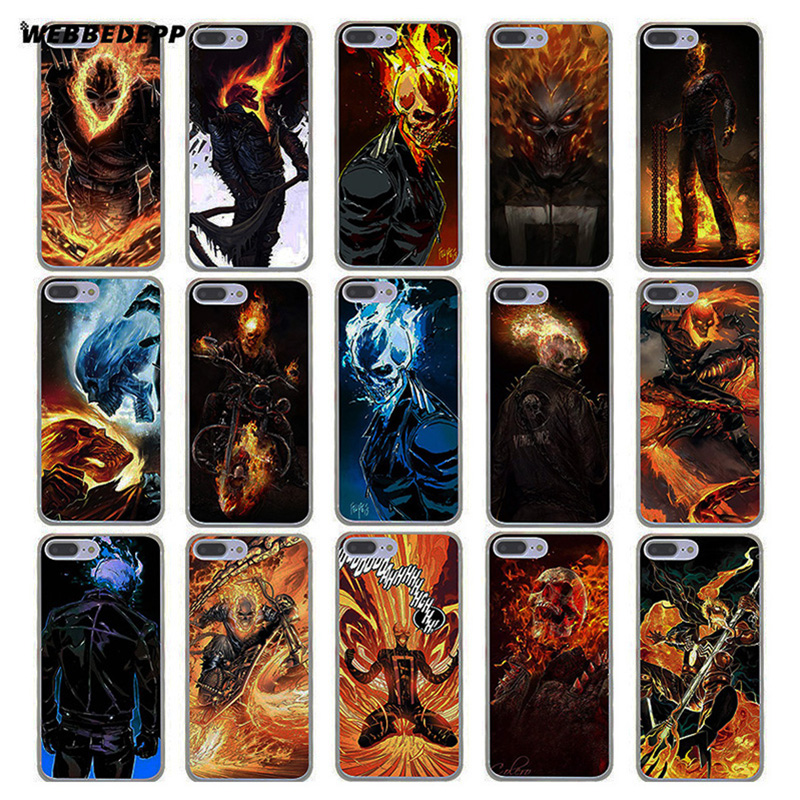 Ghost Rider Hard Transparent Cover Case for iPhone 7 Plus 6 6s 5 5S SE 5C 4 4S