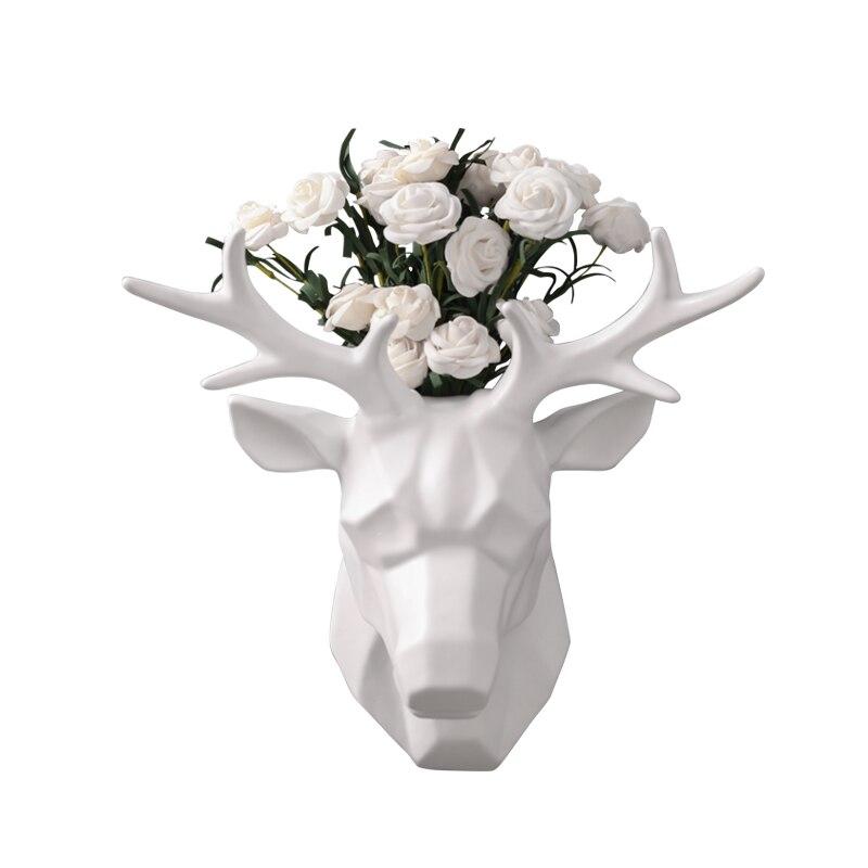 Скандинавский Олень голова крюк на стену декоративная подвеска Гостиная Кабинет фон Стена цветок композиция аксессуары для дома