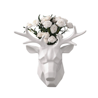 Nordic deer head wall hanging decorations pendant living room study background wall flower arrangement home decoration accessory