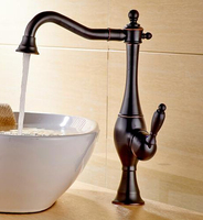 New Arrivals Single Lever Basin Faucet Hot And Cold Water Tap Black Kitchen Sink Faucet Water