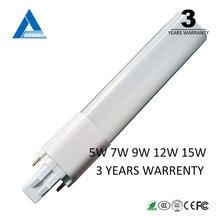 G23 led lamp Ultra-thin 4W 6w 8W G23 led PL light brightness G23 led bulb 8w replace CFL light FREE SHIPPING