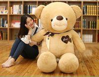 Новый Стиль Огромный 160 см любовь медведь плюшевые игрушки светло коричневый мишки Мягкая кукла подушку Рождественский подарок b1918