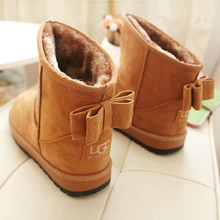 Fashion new arrival 2015 women boots winter snow boots 2015 fashion Warm Ladies bowtie snow women boots snow shoes