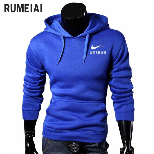 2017 Autumn New Arrival High JUST BREAK IT Printed Sportswear Men Sweatshirt Hip-Hop Male Hooded Hoodies Pullover Hoody clothing