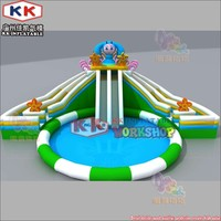 2019 New! Awesome Flower Themed Waterpark Inflatable Water Slide Pool Park for Kids and Adults