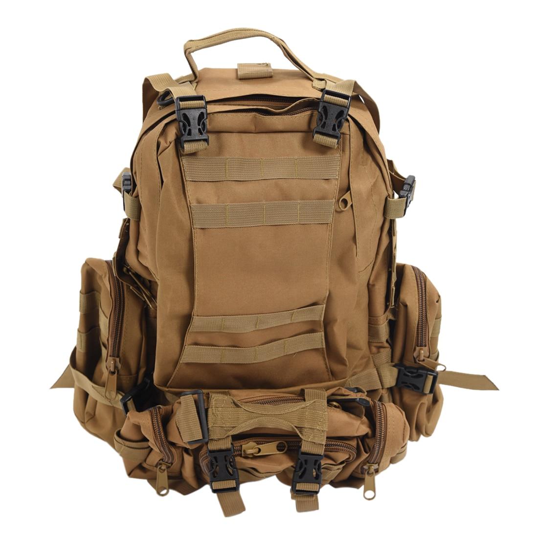 Prix pour Chaude 50L Grande Capacité Militaire En Plein Air À Dos sac à dos Trekking Randonnée Sac Boue couleur